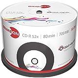 Primeon 2761107 CD-R Rohlinge (80 Min, 700MB, 52x Cakebox, 50-er Spindel)