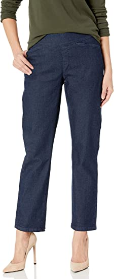 Chic Classic Collection Womens Easy-Fit Elastic Waist Pull-On Capri Pant