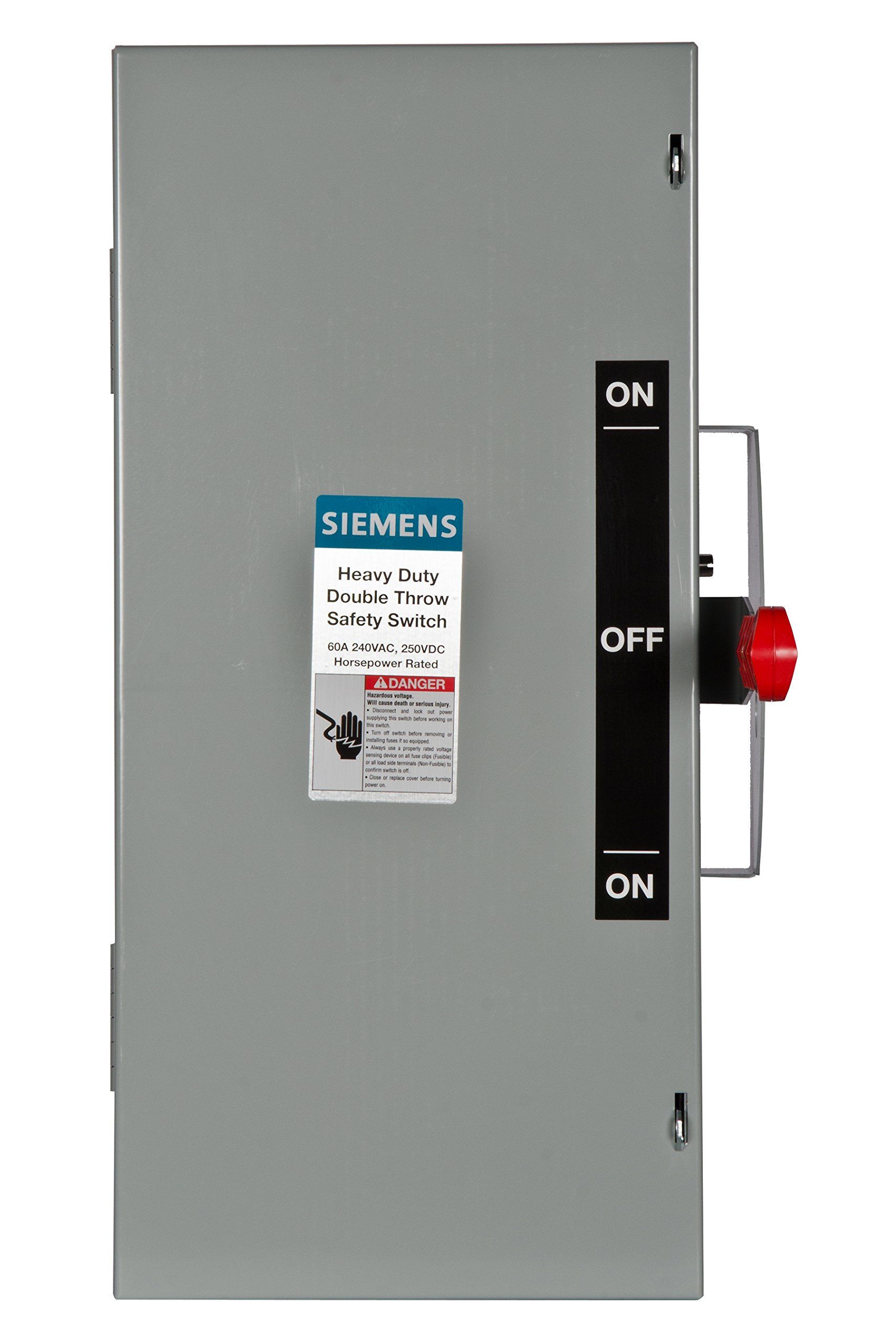 Siemens DTNF322 60-Amp 3 Pole 240-volt 3 Wire Non-Fused Double Throw Safety Switches