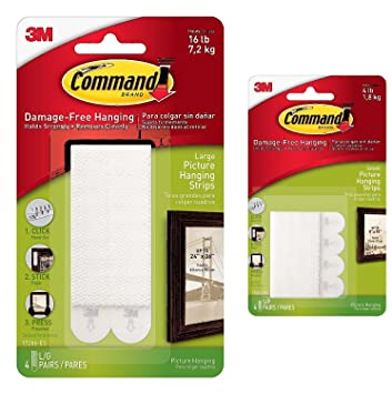 Command Small Picture Hanging Strips 4 Pairs With Command Large
