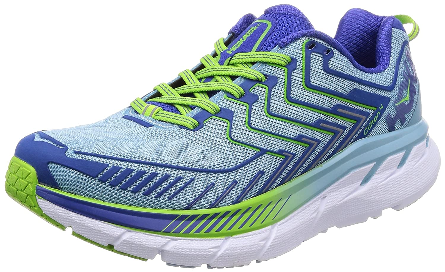 HOKA ONE ONE Women's Clifton 4 Running Shoe B0711TPSC2 10 B(M) US|Sky/Blue/Surf/the/Web