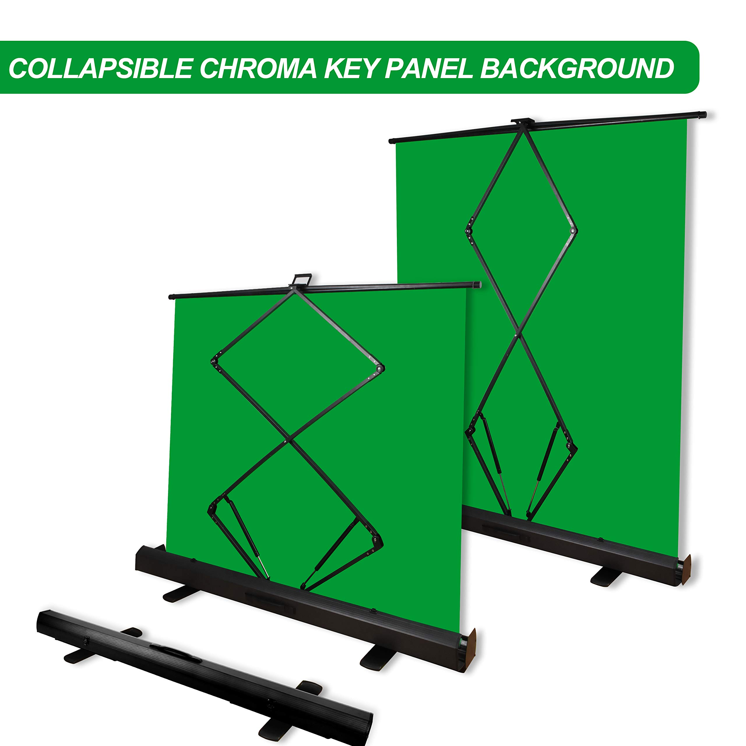 Emart Green Screen, Collapsible Chromakey Panel for Photo Backdrop Video Studio,Portable Pull Up Wrinkle-Resistant Greenscreen Background, Auto-Locking Air Cushion Frame, Solid Safety Aluminium Base by EMART (Image #4)