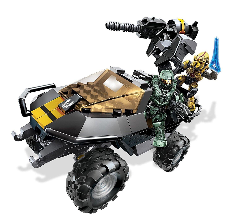 amazon com mega bloks halo unsc attack gausshog building set toys
