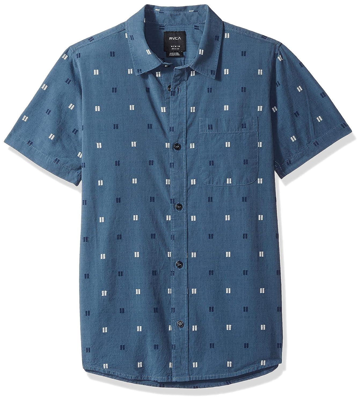 RVCA Boys' Big Sons Short Sleeve Woven Button Down Shirt