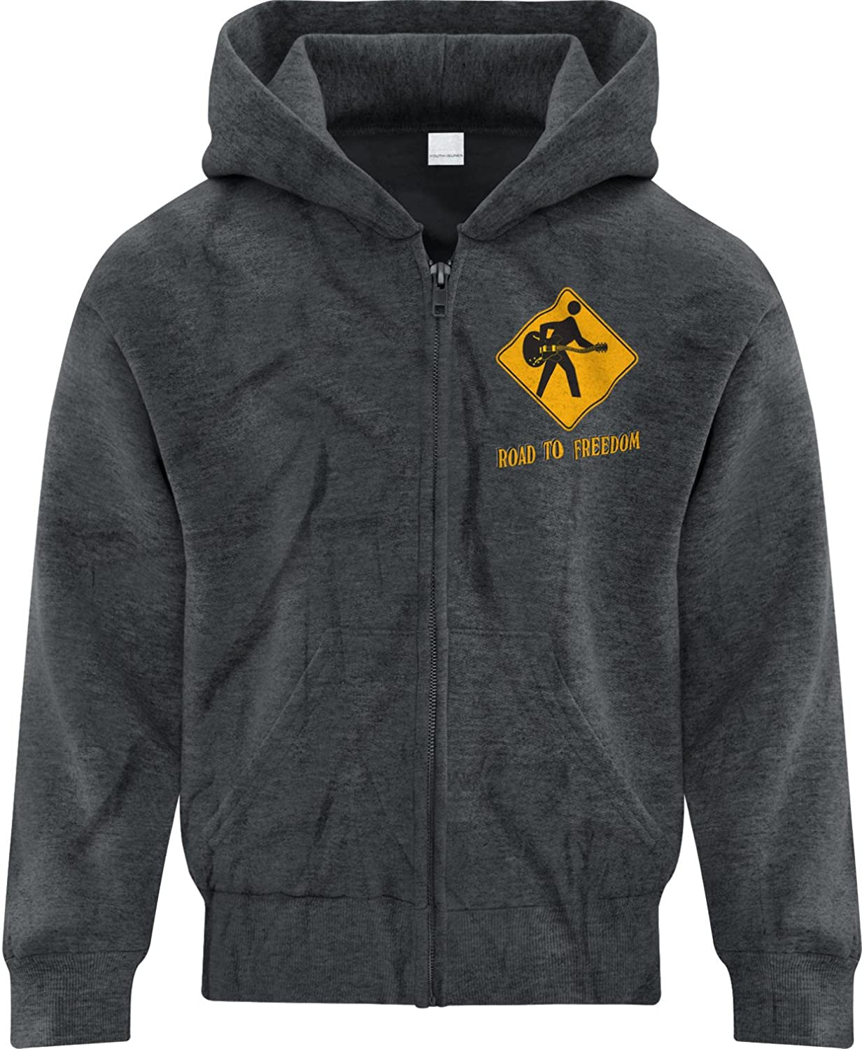 BSW Youth Boys Road to Freedom Guitar Electric Music Zip Hoodie