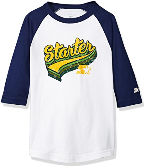 Starter Retro Playera con Logo de béisbol 2c9778aa72a67