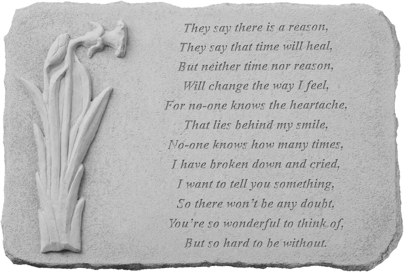 "Kay Berry 7572"" They Say There is A Reason… with Daffodil Decorative Stone, Multicolor"