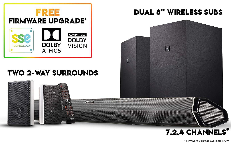 Nakamichi Shockwafe Elite 7 2Ch DTS:X 800W 45-Inch Sound Bar System with  Dual 8