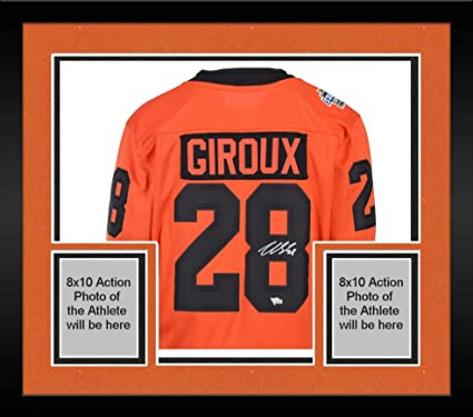 62b48cc9c Image Unavailable. Image not available for. Color: Framed Claude Giroux  Philadelphia Flyers Autographed 2019 Stadium Series Fanatics Breakaway  Jersey ...