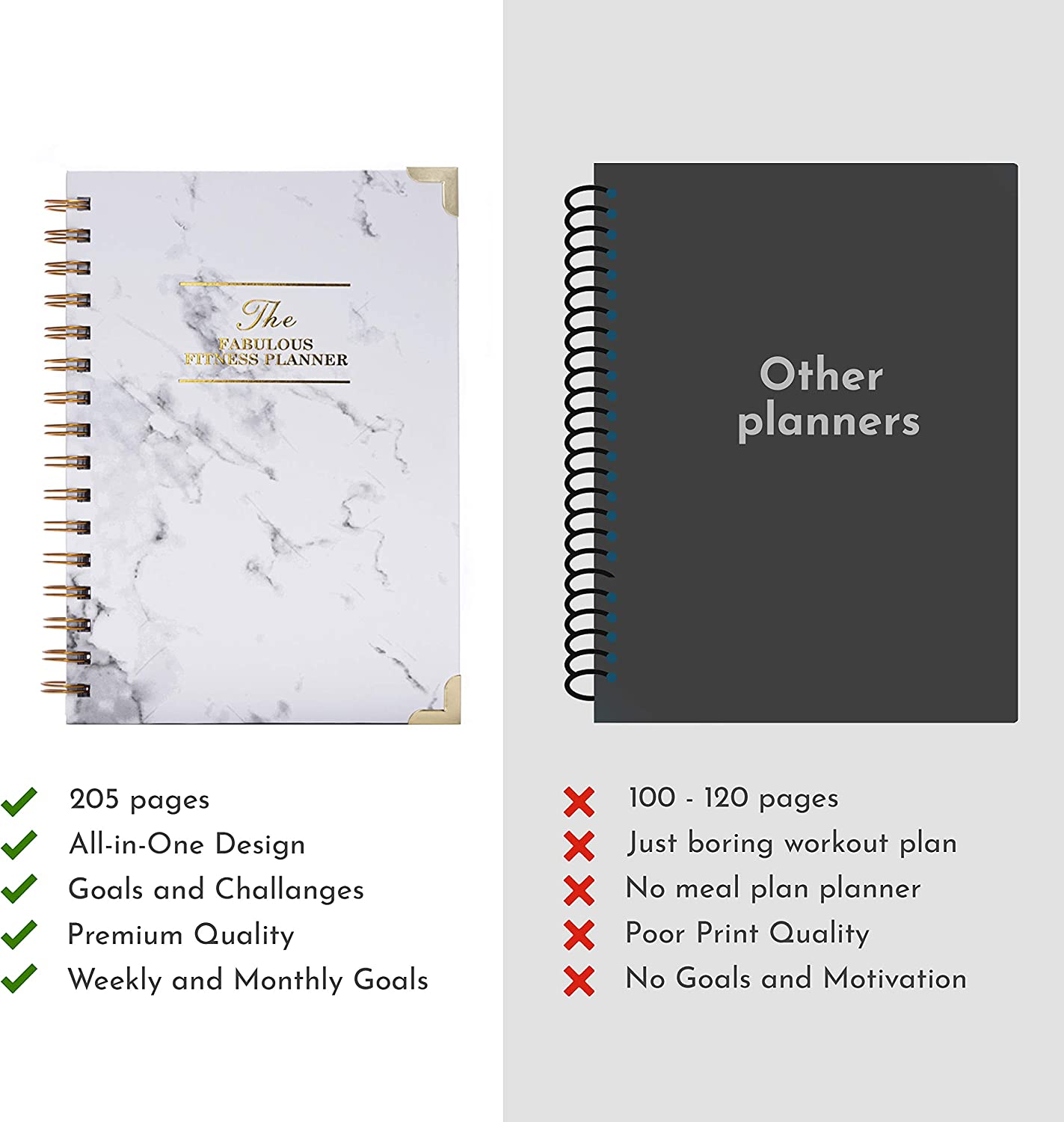 Meal Planner Track Goals Meal Plans Weight Loss Journal and Fitness Planner The Things We Like Workouts