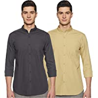 Amazon Brand - Symbol Men's Solid Casual Shirt