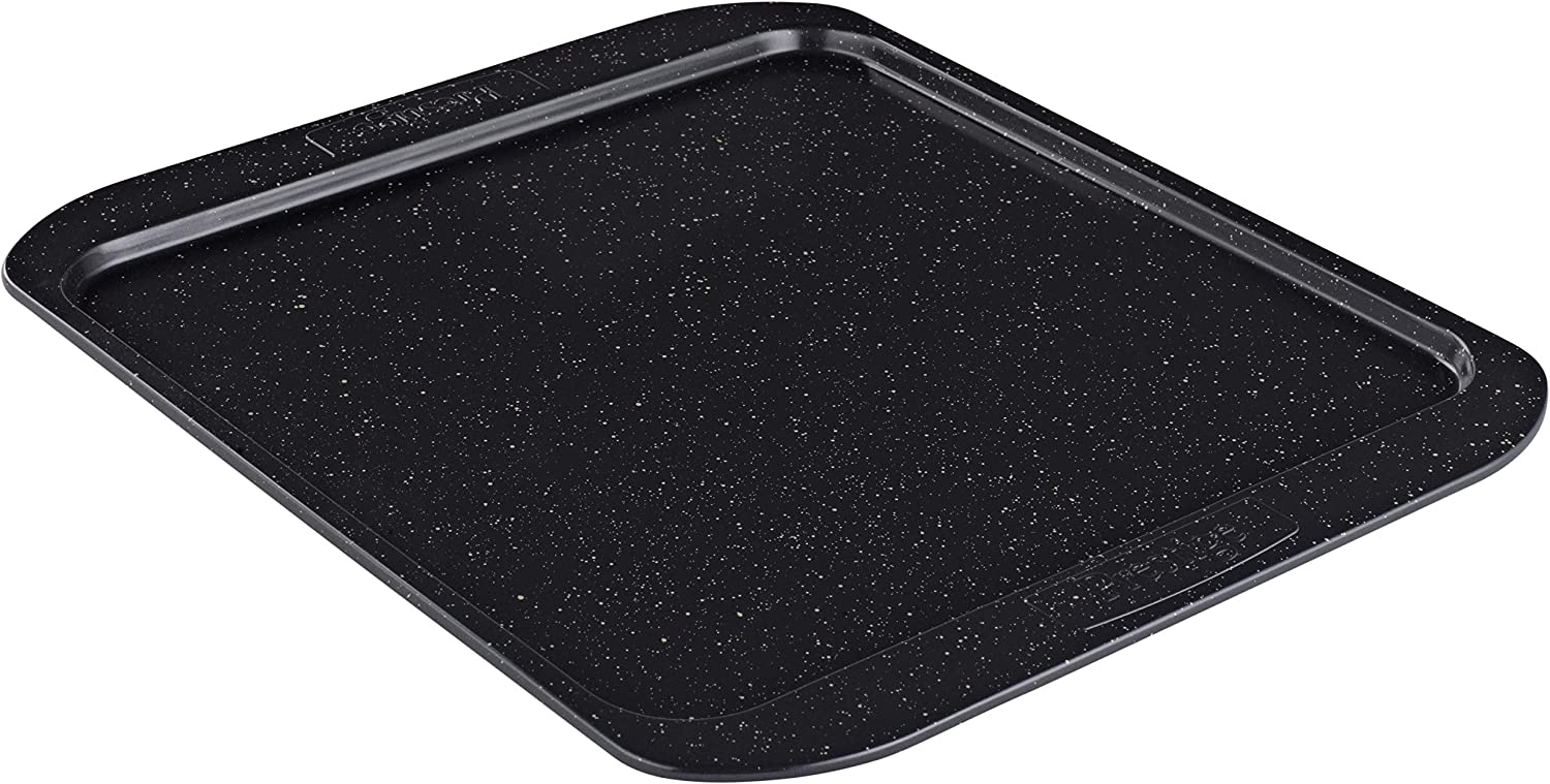 Prestige Nonstick Baking Sheet/Cookie Pan, Square, 12 Inch, Black with Gold Speckle