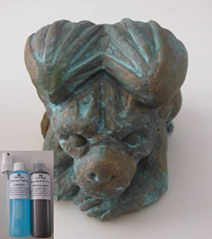 Peinture Bronze Reactive Peinture Effet Patine Pour Les Arts L Artisanat Et La Decoration Amazon Fr Bricolage