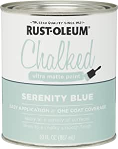 Rust-Oleum, Serenity Blue 285139 Ultra Matte Interior Chalked Paint 30 oz, 30oz Can