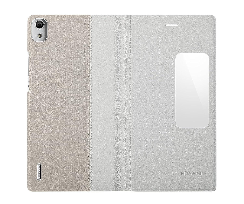 db8b4cf2cb9 Huawei Ascend P7 - Funda tipo flip, blanco: Amazon.es: Electrónica