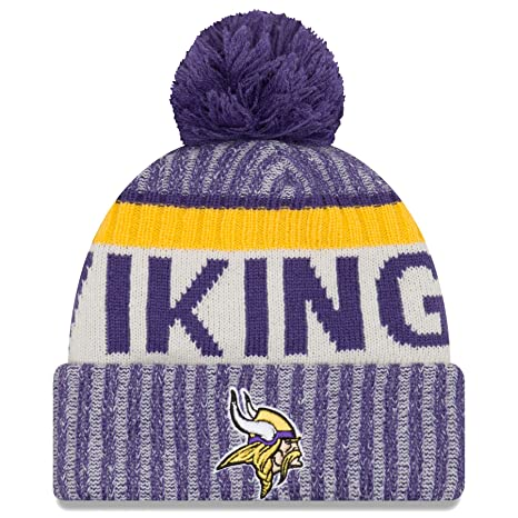 ea1f278a978 Image Unavailable. Image not available for. Color  New Era Minnesota  Vikings NFL Sideline On Field 2017 Sport Knit Beanie Beany