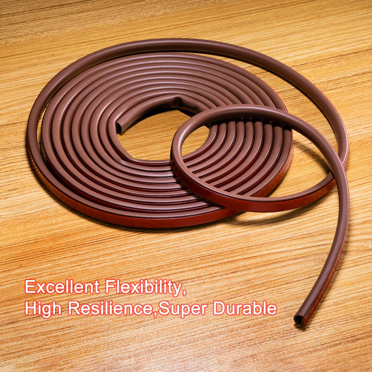 White 9//16 Inch Wide X 1//2 Inch Thick Rubber Weather Seal Door Seal Window Seal Silicone Insulation Strip fowong Silicone Rubber Gap Seal