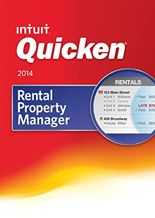 Intuit quicken rental property manager 2013 for windows 0419364.