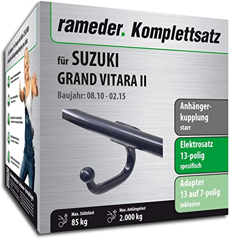 rameder Juego completo, remolque fijo + 13POL Elektrik para Suzuki Grand Vitara II (117390