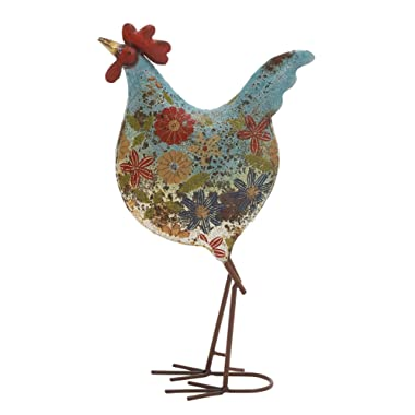 Deco 79 Metal Rooster, 10-Inch by 17-Inch