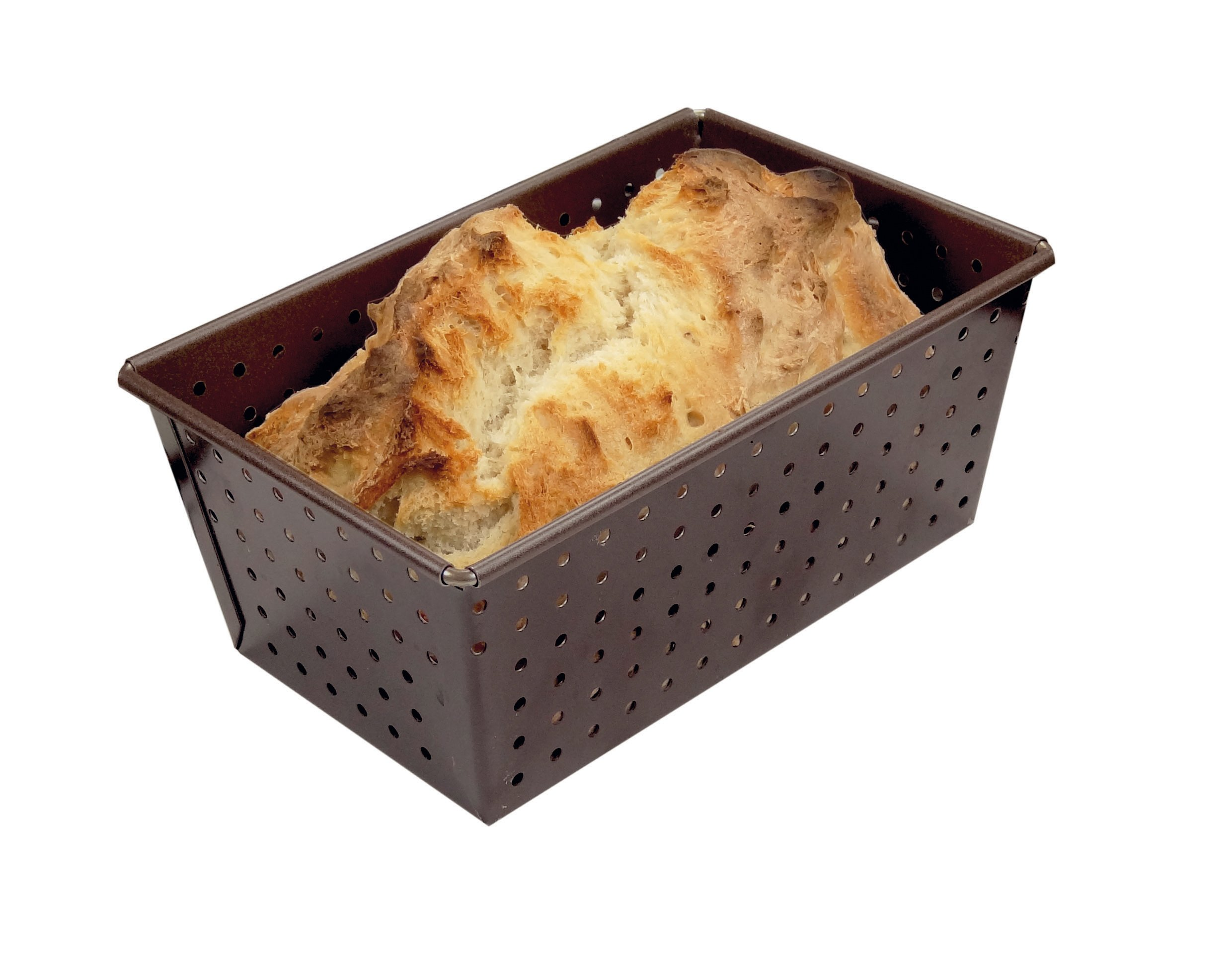Paderno World Cuisine A4982313 Non-Stick Perforated Loaf Pan, Brown by Paderno World Cuisine (Image #2)