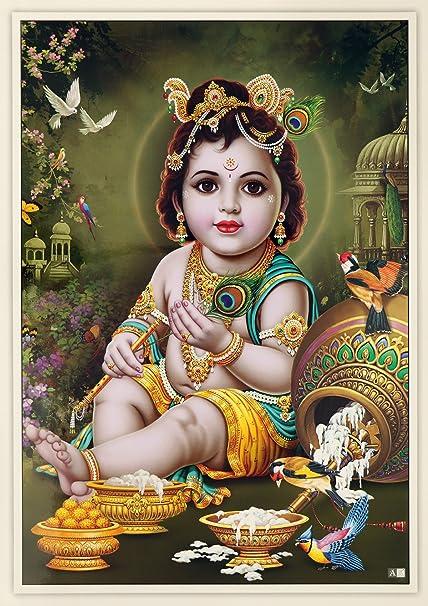 amazon com avercart lord krishna baby krishna poster 13x19 inch