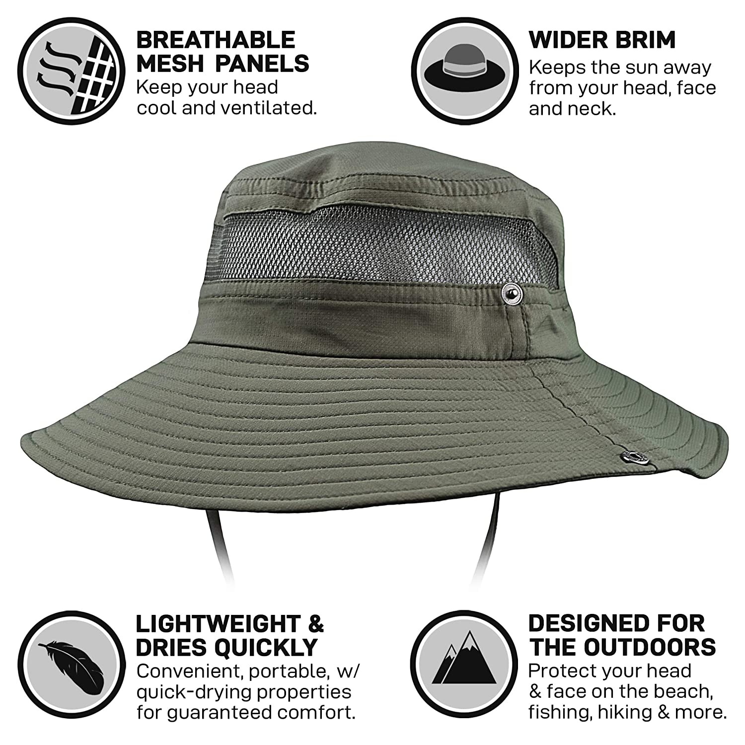5b1009d7ed973 GearTOP Fishing Hat and Safari Cap with Sun Protection | Premium Hats for  Men and Women