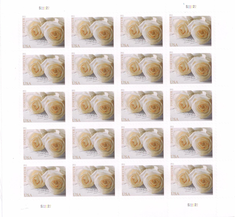Amazon.com: Wedding Roses Sheet of Twenty Forever Stamps Scott 4520 ...