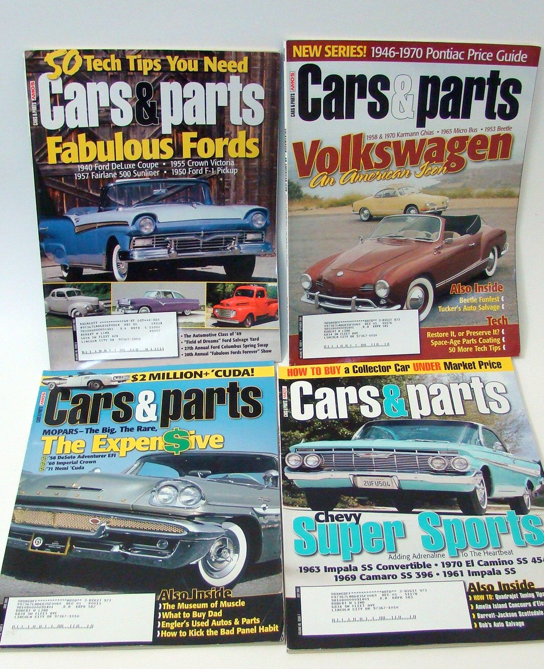 Lot Of 11 Cars Parts Magazines 2005 Individual Issues Classic 1970 Ford Crown Victoria 4623325597121 Books