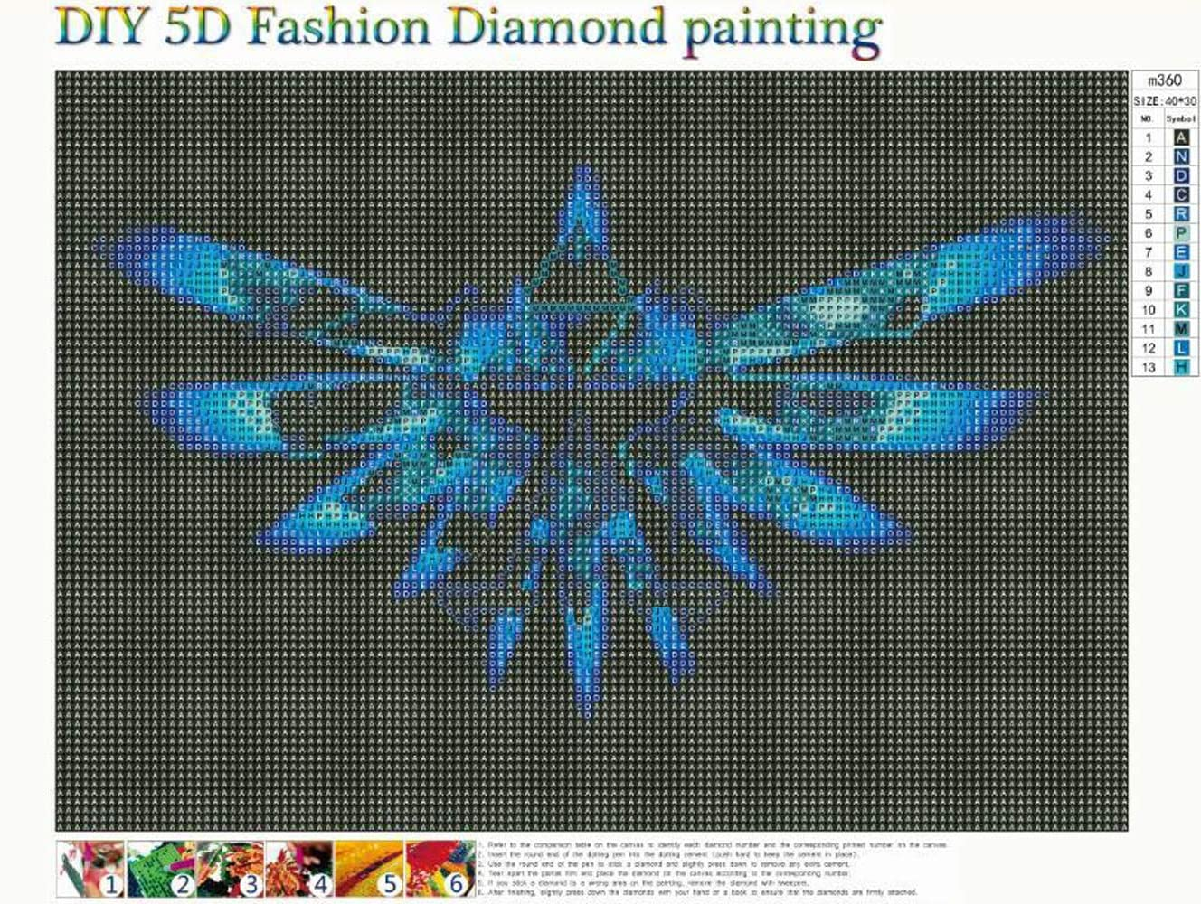 DIY 5D Diamond Painting by Number Kits Full Round Drill Rhinestone Embroidery Cross Stitch Picture Art Craft Home Wall Decor Blue Armor 12x16In