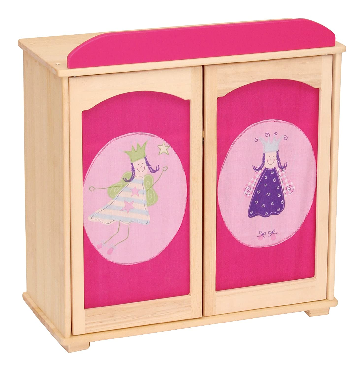 Puppenkleiderschrank roba Happy Fee 97233 Dolls' Bed with Covers Untreated Solid Wood 87 x 57 x 31 cm Happy Fairy Design