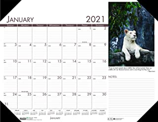 product image for House of Doolittle 2021 Monthly Desk Pad Calendar, Earthscapes Wildlife, 22 x 17 Inches, January - December (HOD172-21)