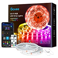 Govee 65.6ft Alexa LED Strip Lights, Smart WiFi RGB Rope Light Works with Alexa Google Assistant, Remote App Control Lighting Kit, Music Sync Color Changing Lights for Bedroom, Living Room, Kitchen