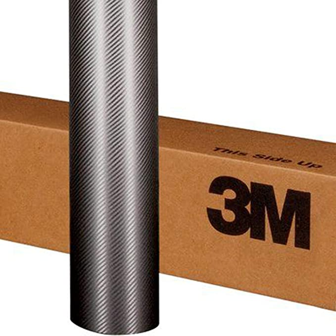 """CF12 Vinyl ft 3M Scotchprint 1080 Black Carbon Fiber Wrap Film 18/""""x96/"""" 12 sq"""