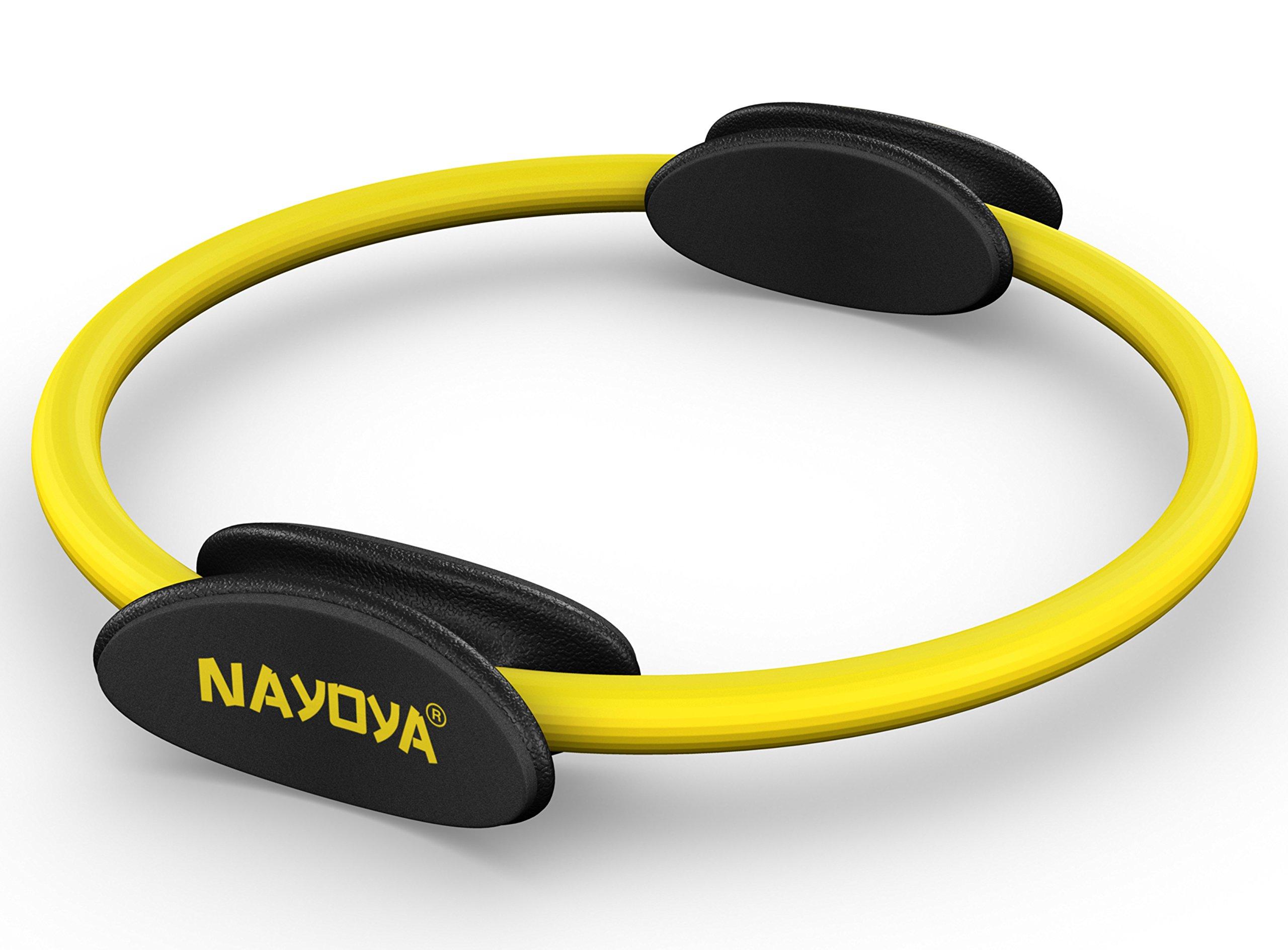 NAYOYA Pilates Ring – Premium Full Body Toning Fitness Magic Circle for at Home Body Sculpt Resistance Training- Leg…