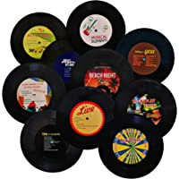 MINI ZOZI 7 inch Blank Vinyl Records Fake 10 Pieces in 1 Pack for Indie Aesthetic Room Decor or Home Decor on Wall for…