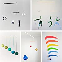 Set of 5 Montessori inspired mobiles - Black and white mobile, Green Gobbi, Dancers, Octahedron, Rainbow. Montessori mobile. Baby mobile. Hanging mobile. Crib toy.