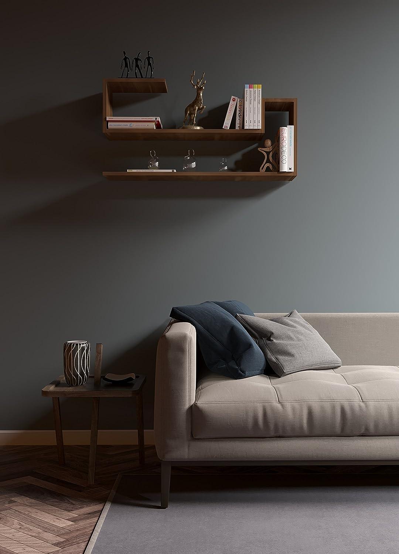 Mensola Parete Arancione WAVE Mensola da muro Mensola Libreria Scaffale pensile per studio // soggiorno in Design moderno