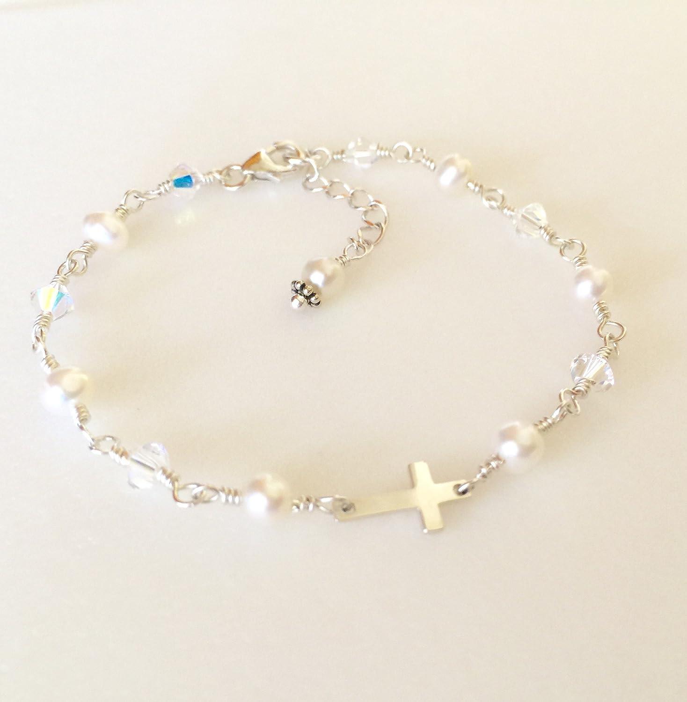 Amazon.com  First Communion Bracelet c2b7c25a2