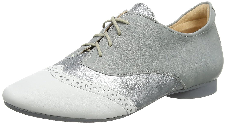 Think Guad_282283, Zapatos de Cordones Brogue para Mujer 40 EU|Gris (Stahl/Kombi 19)