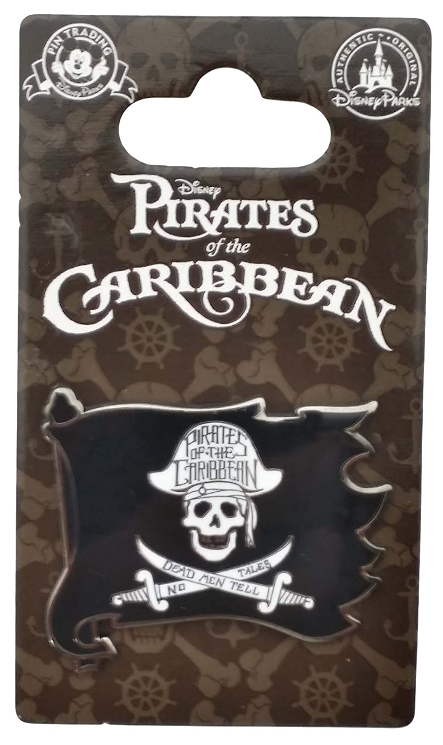 Disney Pin - Pirates of the Caribbean - Skull and Crossed Swords Flag