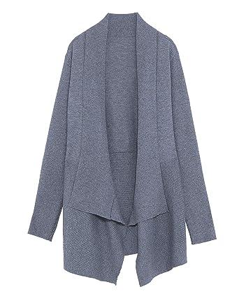 6a0e7086 Zara Women Asymmetric Oversized Cardigan 1509/125 Grey at Amazon ...