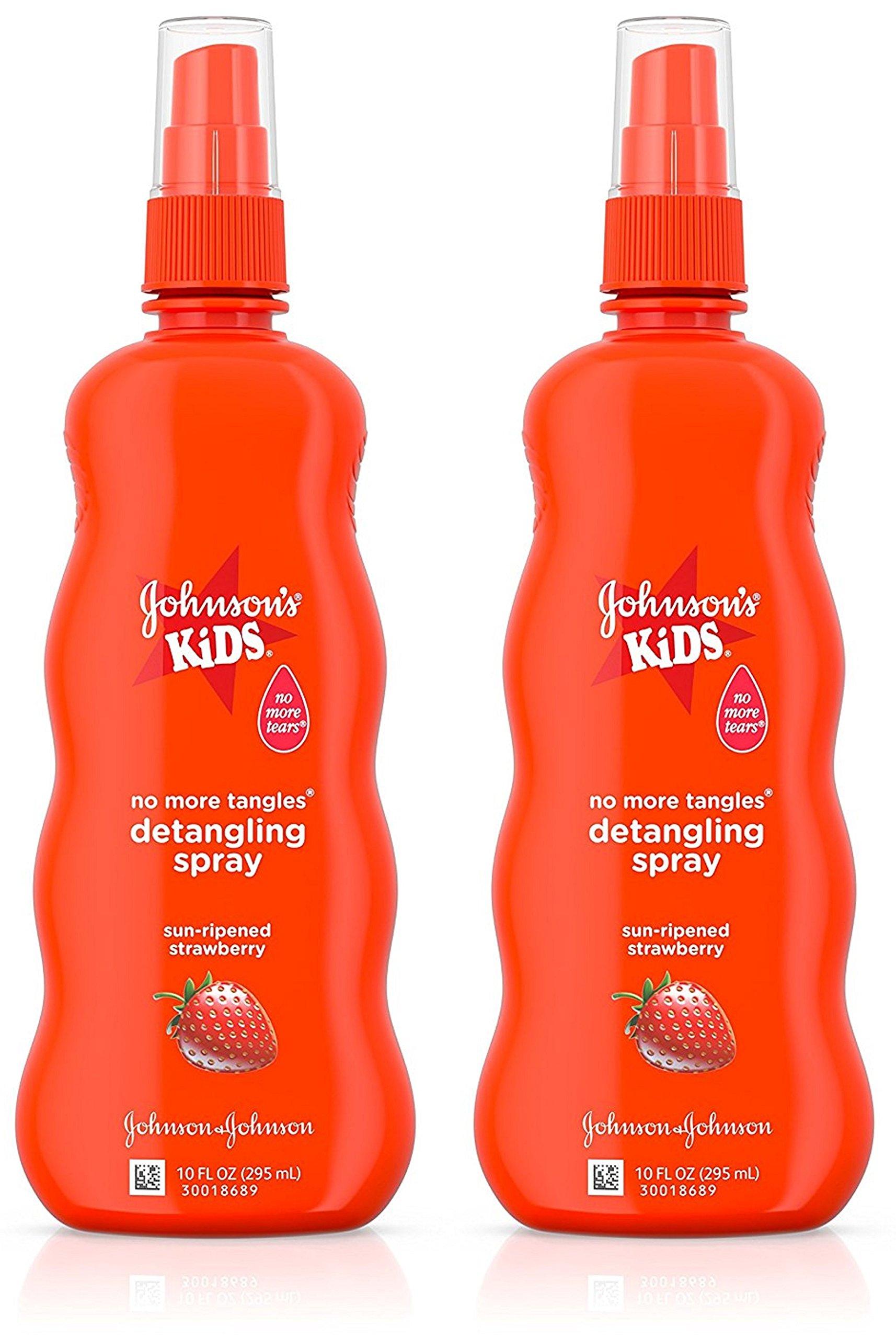Johnson's Kids No More Tangles Detangling Spray, Strawberry 10 fl oz (295 ml)(PACK OF 2) by Johnson