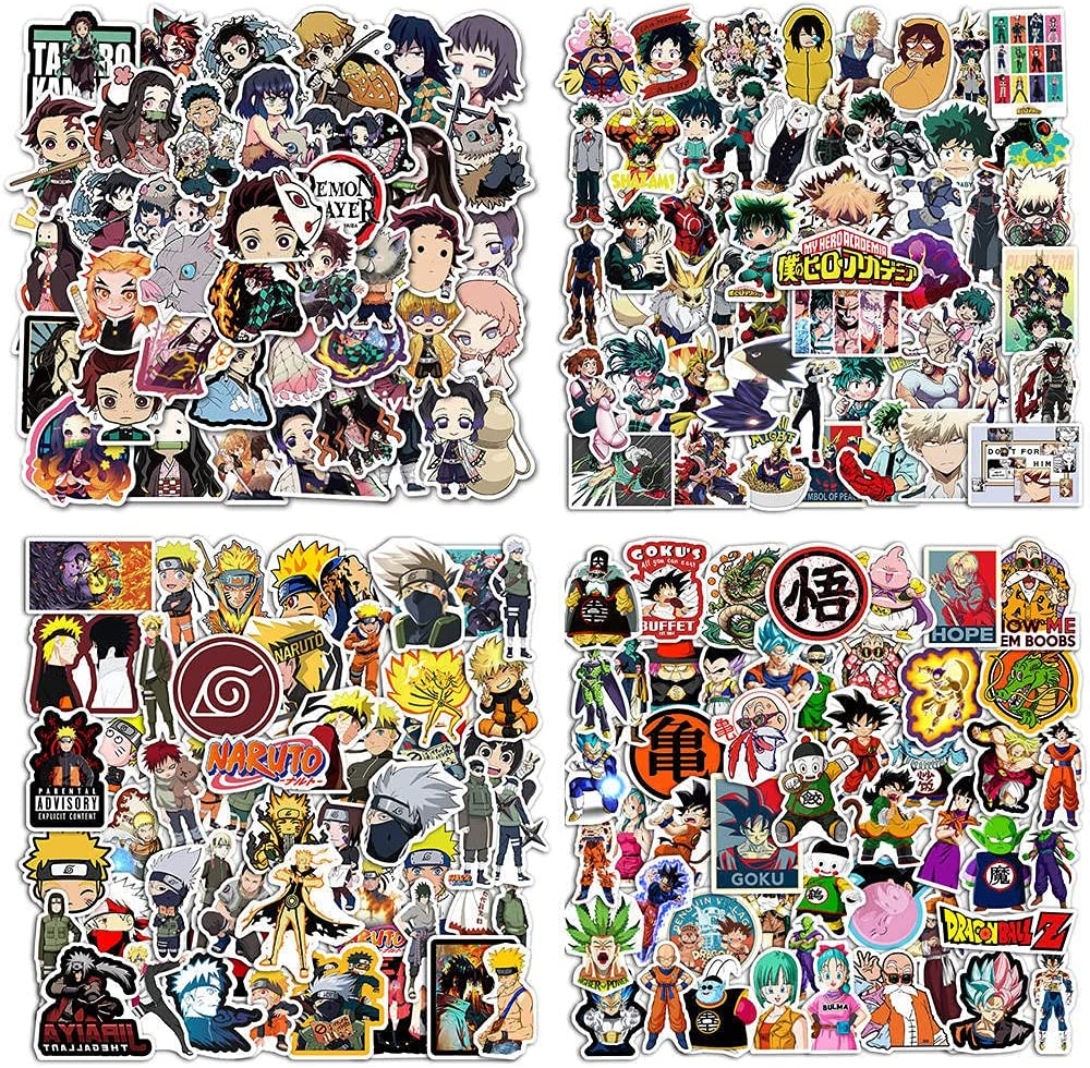 200 PCS Naruto Stickers Waterproof Stickers, Laptop Stickers, Skateboard Flask Stickers, Youth and Kids Vinyl Stickers.