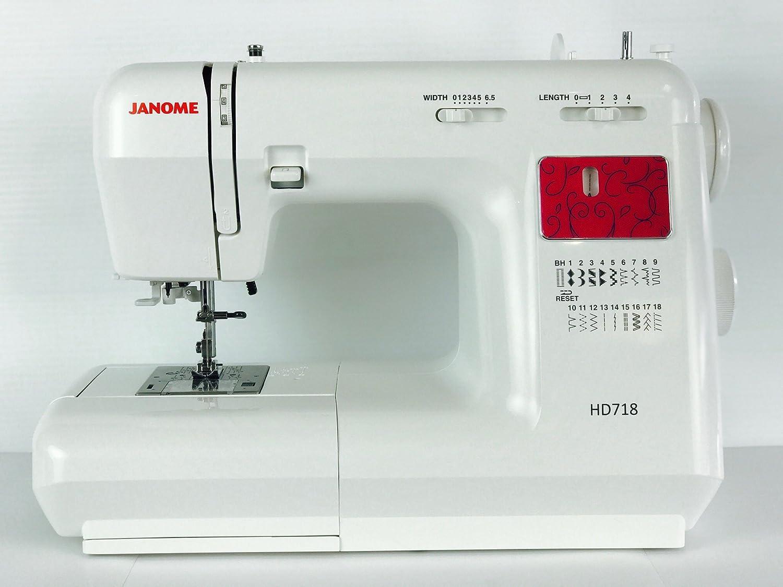 Janome Máquina de Coser HD 718: Amazon.es: Hogar
