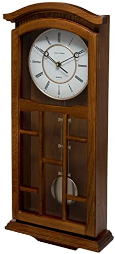 Oak Finish Pendulum Wall Clock Lc25058 Amazon Co Uk