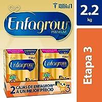 Enfagrow Premium,  Etapa 3, Leche de Crecimiento para niños mayores de 12 Meses, 2 Cajas de 1.1 kg c/u