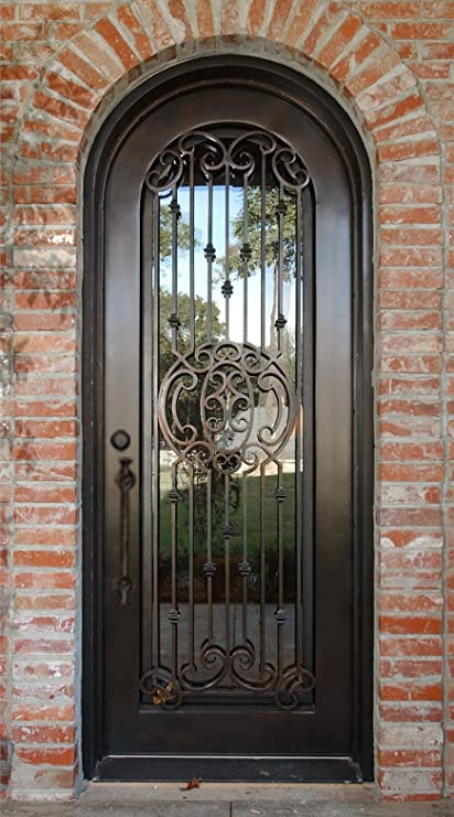 36 X 96 Custom Wrought Iron Entry Door Amazon