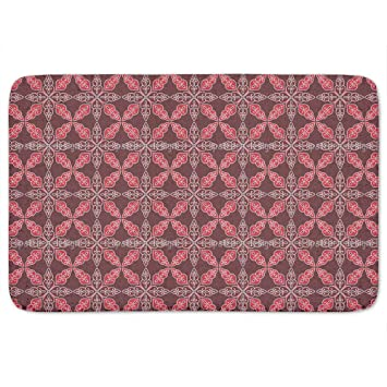 Gentil Moroccan Red Bathroom Rugs: Memory Foam (24 X 36 Inch)