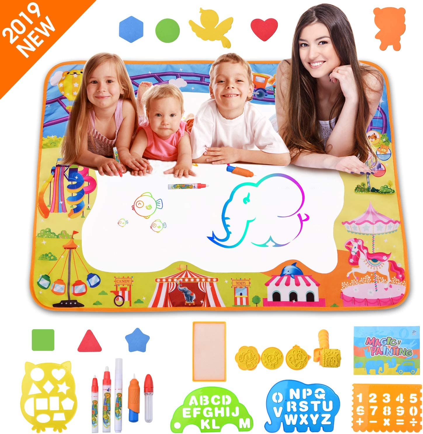 Drawing Water Pen Painting Magic Doodle Mat Board Kid Boy Girl Toy Gift one
